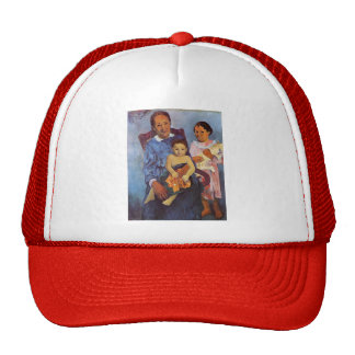 Paul Gauguin- Tahitian woman and two children Trucker Hat