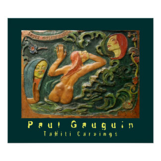Paul Gauguin: Tallas de Tahití Póster
