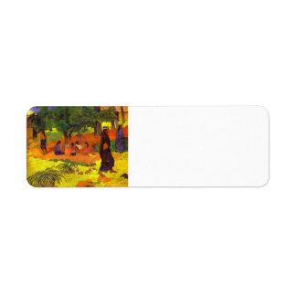 Paul Gauguin- Taperaa Mahana Etiqueta De Remitente