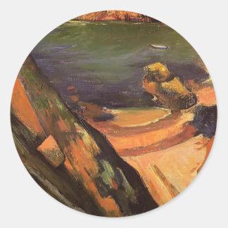 Paul Gauguin- The creek, Le Pouldu Round Sticker
