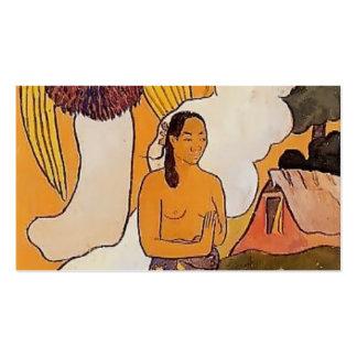 Paul Gauguin- The encounter Business Card Template