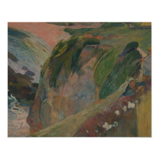 Paul Gauguin - The Flageolet Player on the Cliff Poster