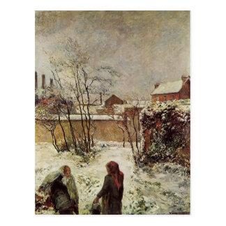 Paul Gauguin- The garden in winter rue Carcel Postcard