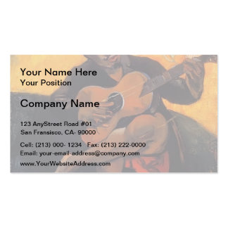 Paul Gauguin- The guitar player Business Card Template