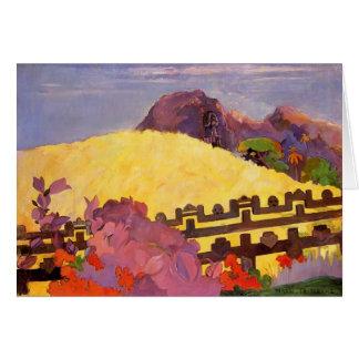 Paul Gauguin- The sacred mountain Card