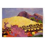 Paul Gauguin- The sacred mountain Greeting Card