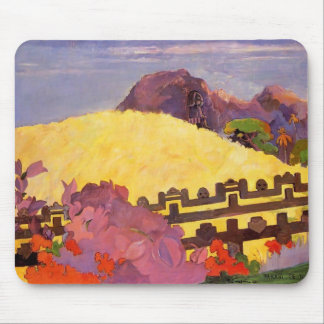 Paul Gauguin- The sacred mountain Mouse Pad