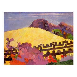 Paul Gauguin- The sacred mountain Postcard