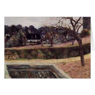 Paul Gauguin- The square pond Card