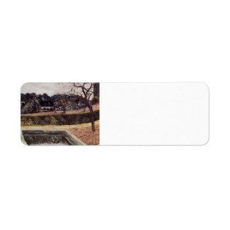 Paul Gauguin- The square pond Custom Return Address Label