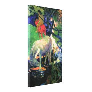 Paul Gauguin: The White Horse Canvas Print