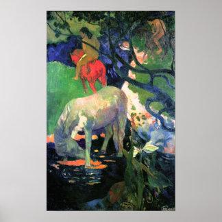 Paul Gauguin The White Horse Print