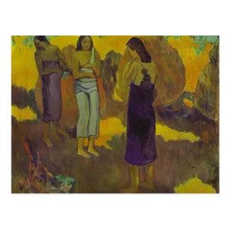 Paul Gauguin- Three Tahitian Women Postcard