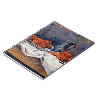 Paul Gauguin- Tomatoes & pewter tankard on table Spiral Notebook