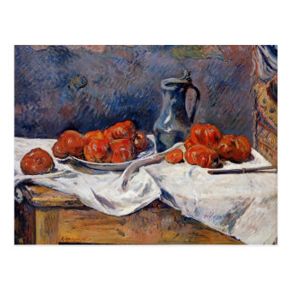 Paul Gauguin- Tomatoes & pewter tankard on table Postcard