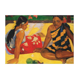 Paul Gauguin Two Women Of Tahiti Parau Api Canvas Print