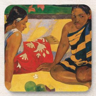 Paul Gauguin Two Women Of Tahiti Parau Api Vintage Coaster