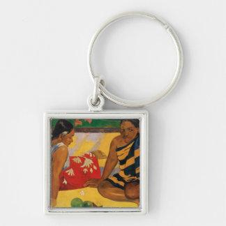 Paul Gauguin Two Women Of Tahiti Parau Api Vintage Keychain