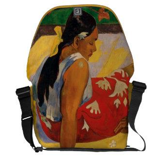 Paul Gauguin Two Women Of Tahiti Parau Api Vintage Messenger Bag