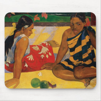 Paul Gauguin Two Women Of Tahiti Parau Api Vintage Mouse Pad