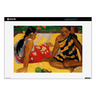 "Paul Gauguin Two Women Of Tahiti Parau Api Vintage 15"" Laptop Decals"