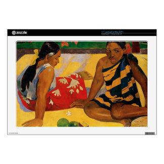 Paul Gauguin Two Women Of Tahiti Parau Api Vintage Decals For Laptops
