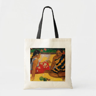 Paul Gauguin Two Women Of Tahiti Parau Api Vintage Tote Bag