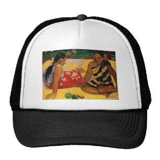 Paul Gauguin Two Women Of Tahiti Parau Api Vintage Trucker Hat