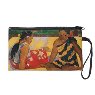 Paul Gauguin Two Women Of Tahiti Parau Api Vintage Wristlet