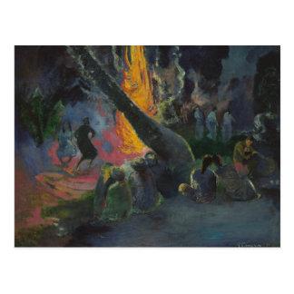 Paul Gauguin - Upa Upa (The Fire Dance) Postcard