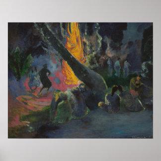 Paul Gauguin - Upa Upa (The Fire Dance) Poster