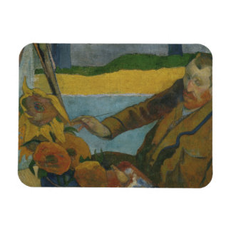 Paul Gauguin -Vincent van Gogh Painting Sunflowers Magnet