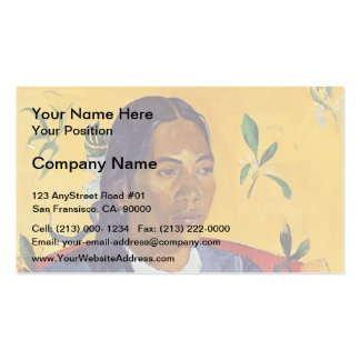 Paul Gauguin- Woman with a Flower Business Card Template