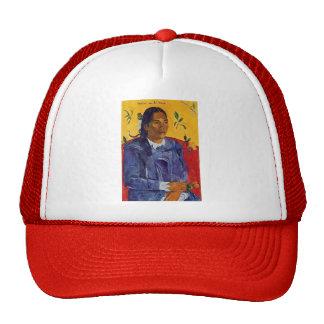 Paul Gauguin- Woman with a Flower Trucker Hat
