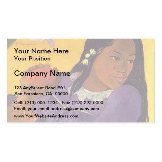 Paul Gauguin- Woman with a Mango Business Card Template