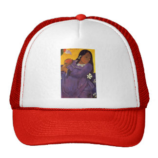 Paul Gauguin- Woman with a Mango Mesh Hats