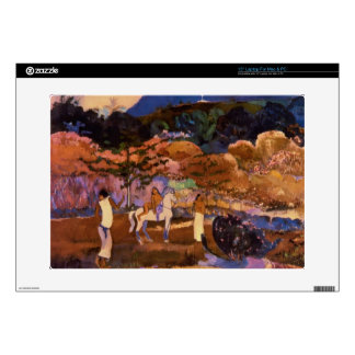 """Paul Gauguin- Women and white horse Decal For 15"""" Laptop"""