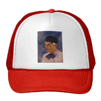 Paul Gauguin- Young Man with a Flower Behind Ear Trucker Hat