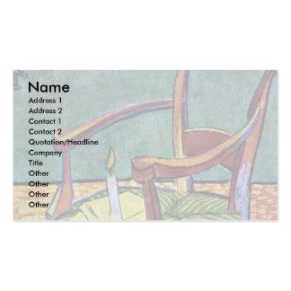 Paul Gauguin'S Armchair By Vincent Van Gogh Business Card Template