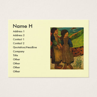 Paul Gauguin's Breton Girls (1889) Business Card