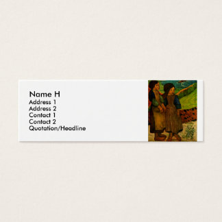 Paul Gauguin's Breton Girls (1889) Mini Business Card