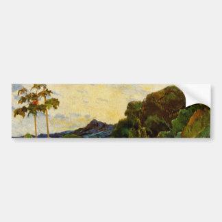 Paul Gauguin's Martinique Landscape (1887) Car Bumper Sticker