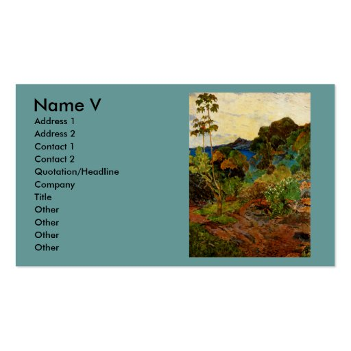 Paul Gauguin's Martinique Landscape (1887) Double-Sided Standard Business Cards (Pack Of 100)
