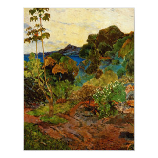 Paul Gauguin's Martinique Landscape (1887) Custom Invitations