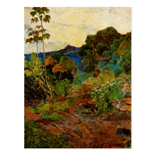 Paul Gauguin's Martinique Landscape (1887) Postcard