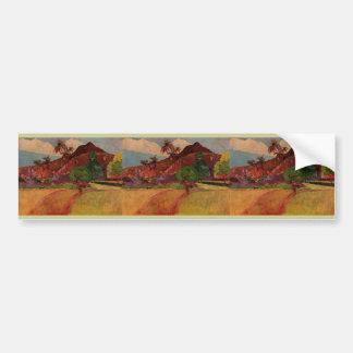 Paul Gauguin's Tahitian Landscape (1893) Bumper Sticker
