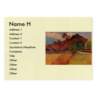 Paul Gauguin's Tahitian Landscape (1893) Business Card Template