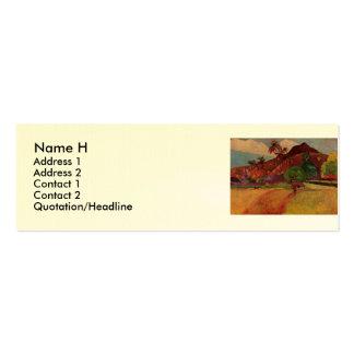 Paul Gauguin's Tahitian Landscape (1893) Business Card Templates
