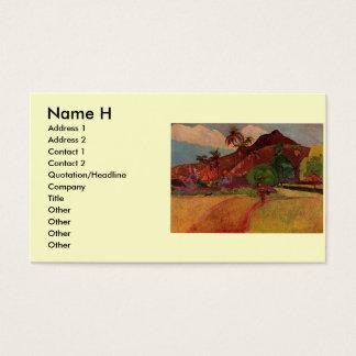 Paul Gauguin's Tahitian Landscape (1893) Business Card