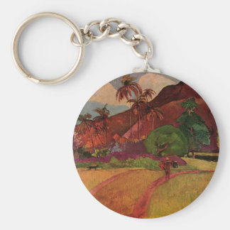 Paul Gauguin's Tahitian Landscape (1893) Keychain